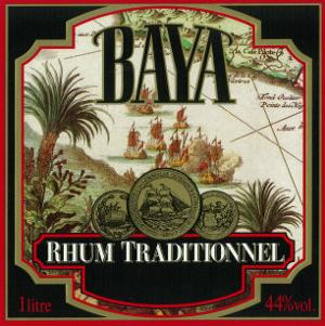 Rhum Traditionnel Baya Brand Rum Label by Lantern Press