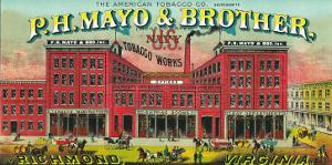 Richmond, Virginia, P.H. Mayo and Brother US Navy Brand Tobacco Label by Lantern Press