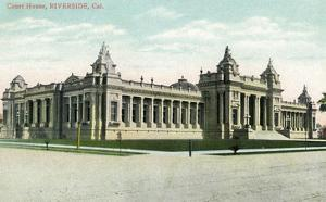 Riverside, California - Exterior View of the Court House by Lantern Press