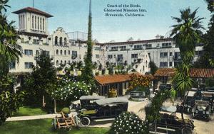 Riverside, California - Glenwood Mission Inn Court of the Birds by Lantern Press