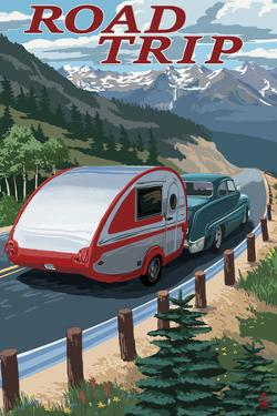 Road Trip - National Park WPA Sentiment by Lantern Press