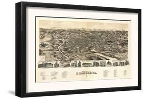 Roanoke, Virginia - Panoramic Map by Lantern Press