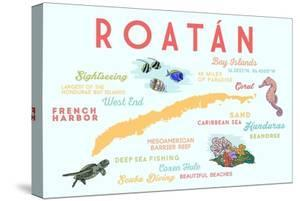 Roatan - Typography and Icons by Lantern Press
