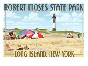 Robert Moses State Park, Long Island, New York by Lantern Press