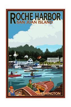 Roche Harbor, Washington - Harbor Scene by Lantern Press