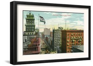 Rochester, New York - Aerial View of Main Street by Lantern Press