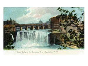 Rochester, New York - Upper Falls of the Genesee River by Lantern Press