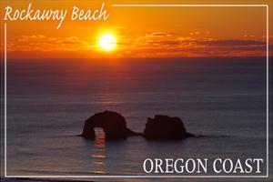 Rockaway Beach, Oregon - Rockaway Beach Sunset by Lantern Press