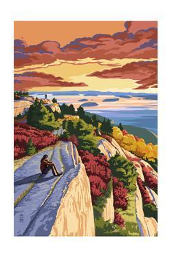 Rocky Hillside Viewpoint by Lantern Press