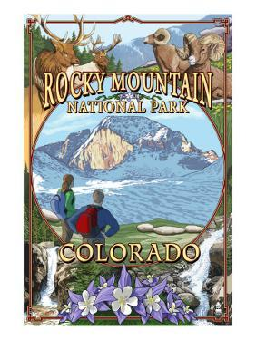 Rocky Mountain National Park, Colorado Montage by Lantern Press