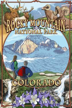 Rocky Mountain National Park, Colorado Montage by Lantern Press