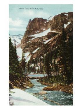 Rocky Mountain National Park, Colorado, View of Odessa Lake, Estes Park by Lantern Press