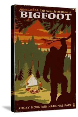 Rocky Mountain National Park - Home of Bigfoot by Lantern Press