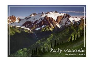 Rocky Mountain National Park - Mountains and Trees by Lantern Press