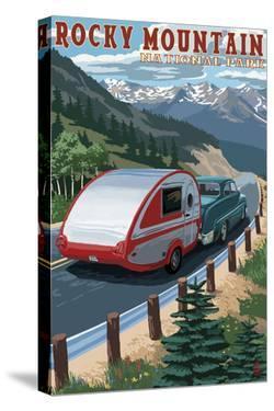 Rocky Mountain National Park - Retro Camper by Lantern Press