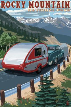 Rocky Mountain National Park - Retro Camper by Lantern Press