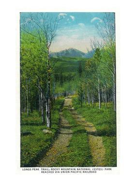 Rocky Mt. Nat'l Park, Colorado - Scenic View Down Longs Peak Trail by Lantern Press