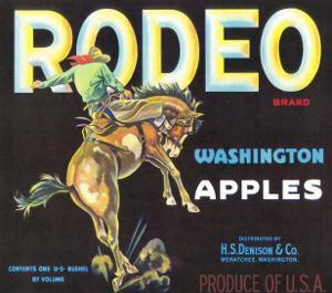 Rodeo Apple Label - Wenatchee, WA by Lantern Press