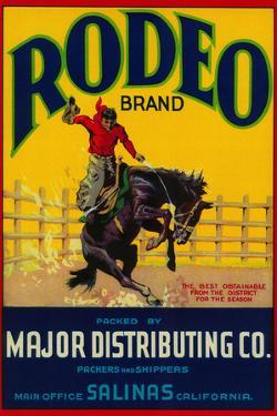 Rodeo Vegetable Label - Salinas, CA by Lantern Press