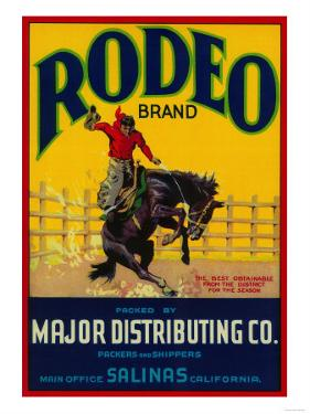 Rodeo Vegetable Label - Salinas, CA by Lantern Press
