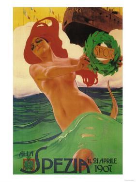 Rome, Italy - Alla Spezia Promotional Poster by Lantern Press
