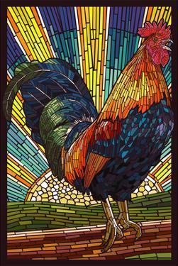 Rooster - Paper Mosaic by Lantern Press