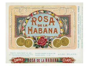 Rosa de la Habana Brand Cigar Box Label by Lantern Press