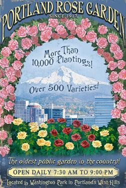 Rose Garden - Portland, Oregon by Lantern Press