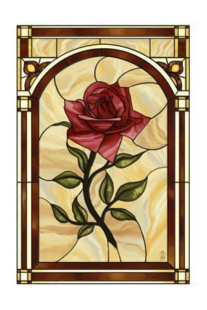 Rose Stained Glass by Lantern Press