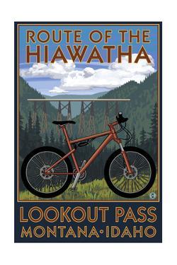 Route of the Hiawatha St. Regist, Montana - Mountain Bike Scene by Lantern Press