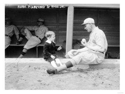 Rube Marquard & Rube Jr., Brooklyn Dodgers, Baseball Photo - New York, NY by Lantern Press