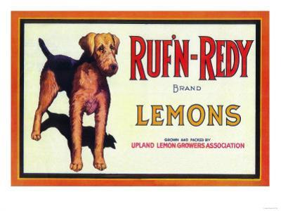 Ruf n' Redy Lemon Label - Upland, CA by Lantern Press