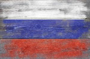 Russia Country Flag - Barnwood Painting by Lantern Press
