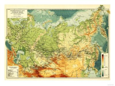 Russia - Panoramic Map by Lantern Press