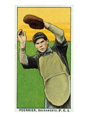 Sacramento, CA, Sacramento Pacific Coast League, Fournier, Baseball Card by Lantern Press