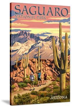 Saguaro National Park, Arizona - Hiking Scene by Lantern Press