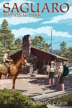 Saguaro National Park, Arizona - Manning Cabin by Lantern Press