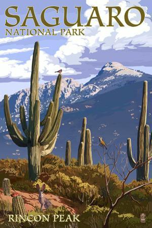 Saguaro National Park, Arizona - Rincon Peak by Lantern Press