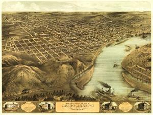 Saint Joseph, Missouri - Panoramic Map by Lantern Press