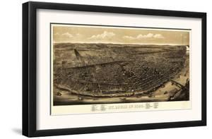 Saint Louis, Missouri - Panoramic Map by Lantern Press
