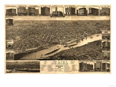 Saint Paul, Minnesota - Panoramic Map