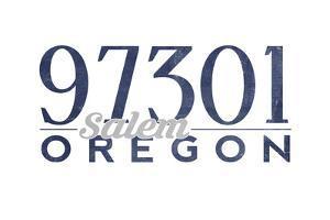 Salem, Oregon - 97301 Zip Code (Blue) by Lantern Press