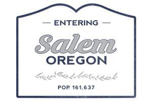 Salem, Oregon - Now Entering (Blue) by Lantern Press