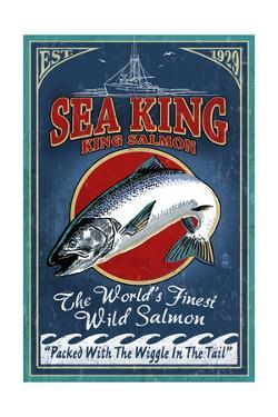 Salmon - Vintage Sign by Lantern Press