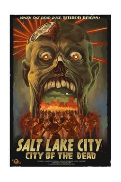 Salt Lake City, Utah - City of the Dead by Lantern Press