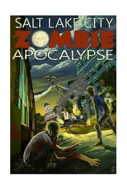 Salt Lake City, Utah - Mormon Zombie Apocalypse by Lantern Press