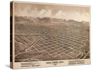 Salt Lake City, Utah - Panoramic Map by Lantern Press