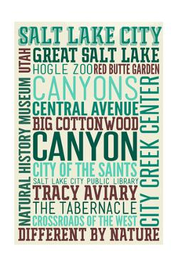Salt Lake City, Utah - Typography by Lantern Press