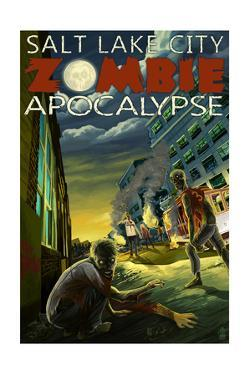 Salt Lake City, Utah - Zombie Apocalypse by Lantern Press
