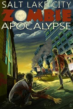 Salt Lake City, Utah - Zombie Apocalypse by Lantern Press